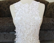Cute venice  applique off white color 1  pieces listing 25 inches long shoulders down 19 inches wide at the neck 15 inches center down