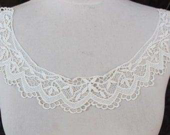 Cute venice applique  white  color 1 pieces listing