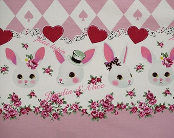 "Rabbit, , Sweets  Carld Alice in wodnderland Lolita Japanese Kawaii Pink  100cm length by 110cm Wideth or 39"" by 42"""