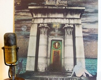 "ON SALE Judas Priest Vinyl Record Album 1970s British Hard Rock and Roll Rob Halford ""Sin after Sin""(1977 CBS Records with ""Diamonds and Rus"