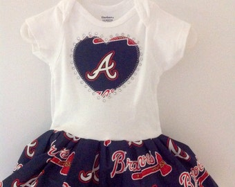 Atlanta Braves Inspired Dress