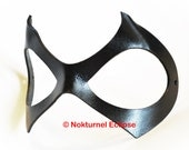Harley Quinn Black Leather Mask Cosplay Halloween Black Widow Catwoman Geek SDCC Gotham Batman Masquerade Ball - Available Any Basic Color