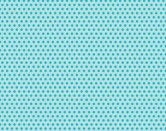 Riley Blake Designs Girl Crazy Dots Blue - 1 yard