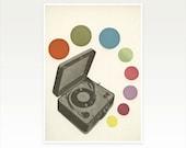 Pop Art Poster, Retro Music Art, Abstract Geometric Print, Mad Men - Pop Music