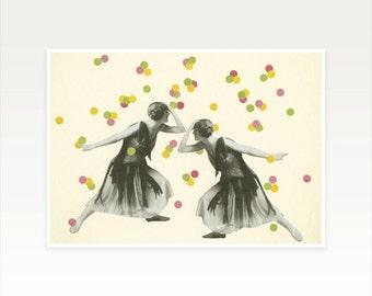 Zodiac Art, Gemini Poster, Gemini Twins Art Print - Dance : Gemini
