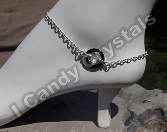 Black and Silver Ankle Bracelet