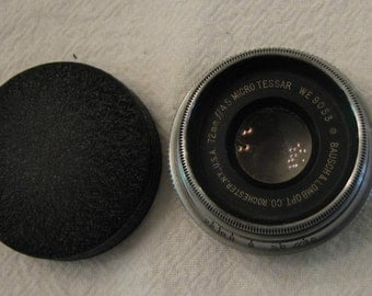 Vintage Camera Lens Bausch and Lomb 72mm f 4.5 Micro-Tessar WE9053 Lenses Early 1900s 04
