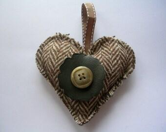 TWEED FABRIC HEARTS  Shabby Chic Hearts