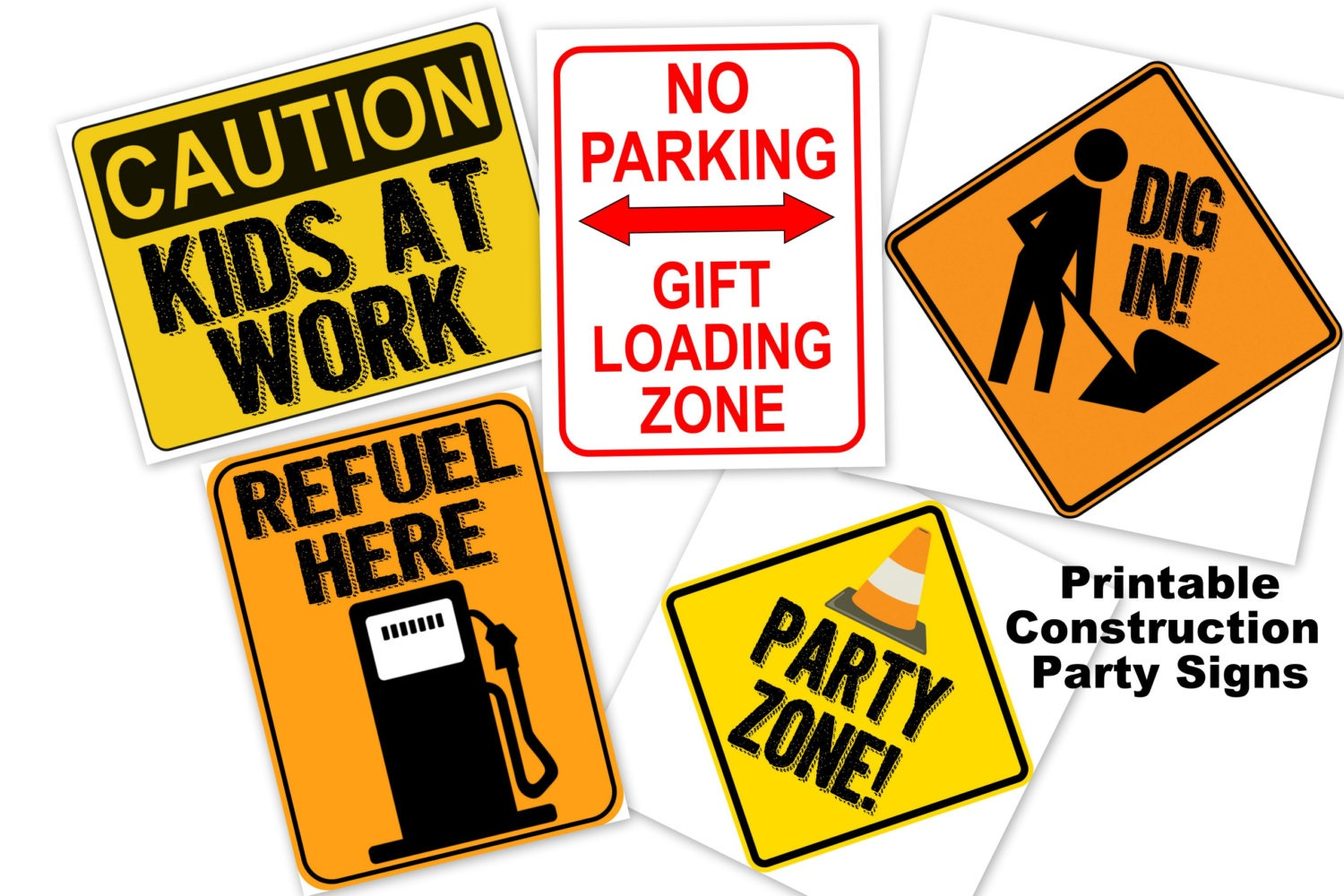 Construction Signs For Kids Party | www.imgkid.com - The ...