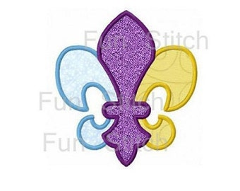 Fleur de lis applique machine embroidery design