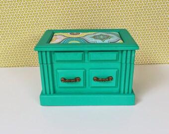 Jewelry Box in Turquoise, Yellow, Green- Ophelia
