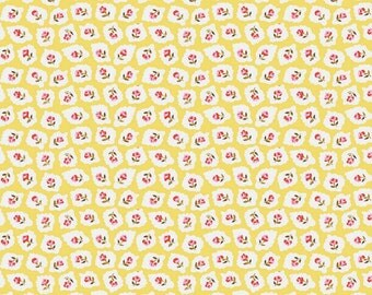 Yellow Flower Fabric by the Yard  Milk sugar & flower Penny Rose