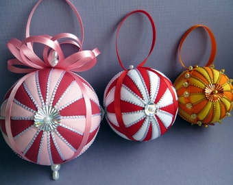 Christmas Ornament Tutorial - Pattern - Instructions - DIY - No Sew - Starburst