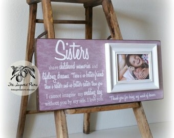 Maid of Honor Thank You Gift, Bridesmaid Frame, Sister, Personalized Bridesmaid, There Is No Better Friend 8x20 The Sugared Plums Frames