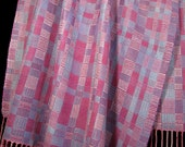 Hand Woven Wrap, Hand Woven Shawl, Evening Wrap Shawl, Handwoven Shawl, Lilac Spring Shawl