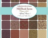 """ON SALE Mill Book 1892 Moda Quilt Fabric Moda Charm Pack 42 squares 5"""""""