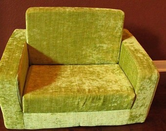New! Kids Lounge Chair / Sofa that Flips out as Bed - Can customize the fabric.