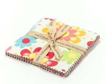 "Just Dreamy 2 5"" Squares Charm Pack by Zoe Pearn of My Mind's Eye for Riley Blake, 18 pieces"