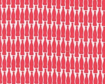 Sodalicious Diet Lotsa Pop Strawberry by Emily Herrick for Michael Miller, 1/2 yard