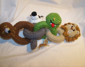 Crochet Harry Potter animal link baby  rattle toy ANY animals you want ANY colors you want