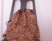Vintage Woven Straw Backpack
