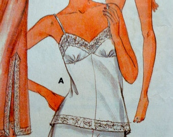 Lingerie Pattern Butterick 4020 Tap Pants Teddy Camisole Slips Size 14 Bust 36