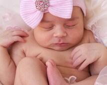 Newborn hospital hat, newborn girl hospital hat, newborn girl, hospital hat, baby hospital hat, newborn hat,  baby girl hat, Quick Ship