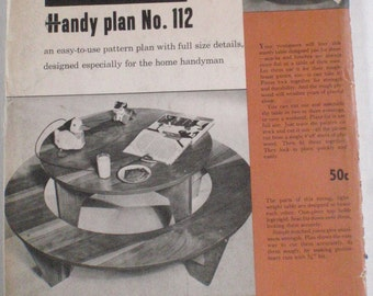 Woodworking Plans For Children's Play Table - Better Homes and Gardens Handy Plan 112, Unopened