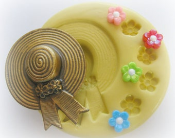 Hat Flower Silicone Mold Sugar Fondant Clay Resin Mold