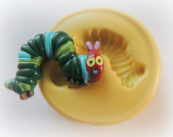 SIlicone Bug Worm Mold DIY Fondant Worm Silicone Mold Fondant Candy Clay PMC Molds