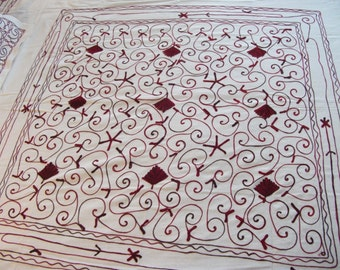 """Hand Crafted Bed Cover (92""""X84"""") with 2pc Pillow Case (26.5""""X17.5"""")-  Hand Embroidery-Beautiful!"""