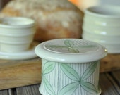 French Butter Keeper, Petal Pattern