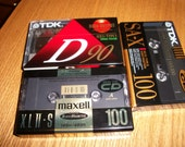 Lot of 3, Factory Sealed, Maxell Cassette Tape, TDK Cassette Tapes, Blank Cassette Tapes, by Nanas Vintage Shop on Etsy