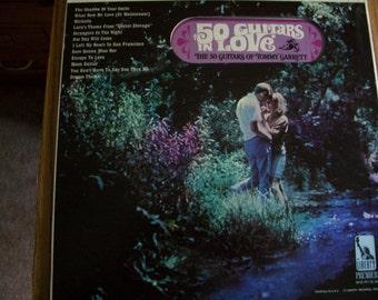 50 Guitars In Love, Tommy Garrett, Beautiful Guitar Music, LP Vinyl Album, by Nanas Vintage Shop on Etsy