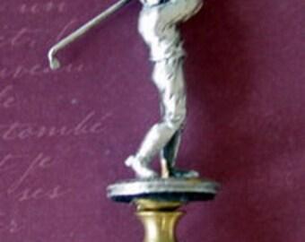 Pewter Golfer Ball Lamp Finial