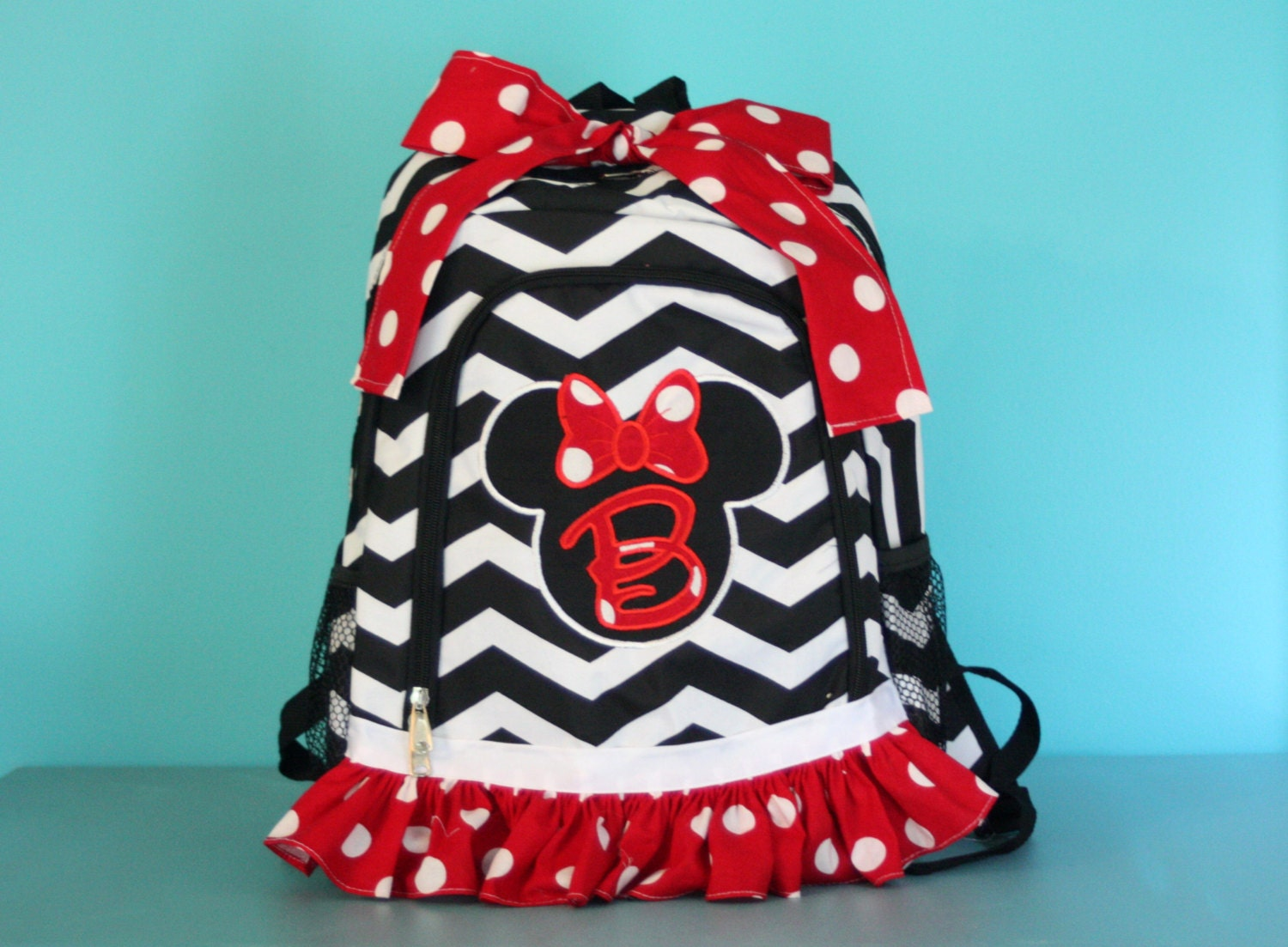 Backpack, Girls Backpack, Minnie Mouse, Back To School, School Bags,  Monogrammed