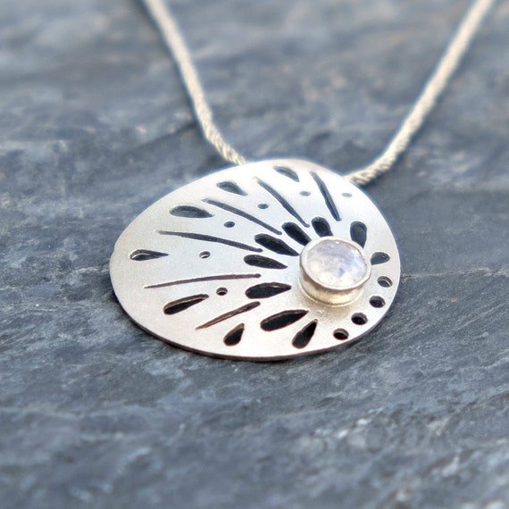 Rainbow Moonstone Necklace, Moonstone Jewelry, Sterling Silver Necklace, Sparkle Moonstone Lace Silver Necklace Gifts For Her