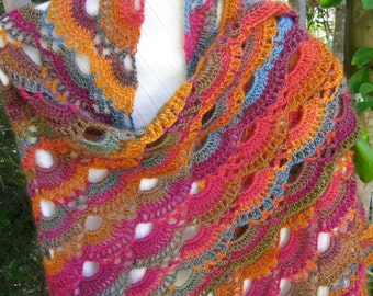 Crochet shawl shoulder cover Mother's Day Grandmother's Day Gift prayer shawl