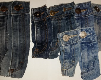 11 Used jeans zippers supplies for upcycling