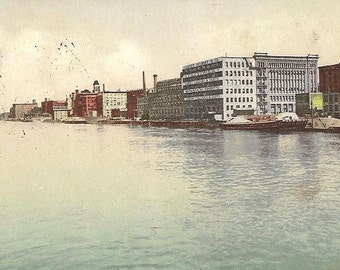 Collar and Shirt District TROY New York 1907 Antique Postcard – Great Historic View