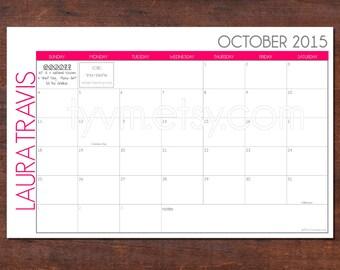 Custom Desk Calendar Desk Pad Blotter Calendar - Desk blotter calendar