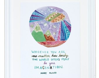 Mary Oliver Imagination Art Print