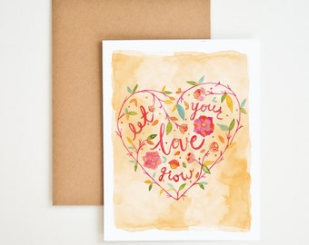 Let Your Love Grow Greeting Card