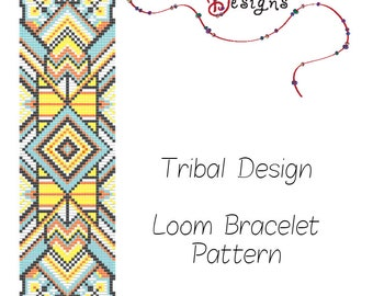 Ethnic Tribal Design Beading Pattern for Loom or Square Stitch