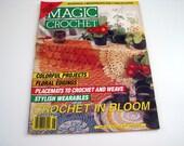 Vintage MAGIC CROCHET Pattern Book - June 1993 - #84 - Floral EdgingsPlacemats - Doilies - 3 Bedspreads - 3 Tablecloths - runners