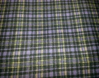 Fabric Plaid Canvas 3 Yards