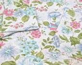 VINTAGE SHEET Fat Quarter Blue Pink Aqua Floral VSBPK-02