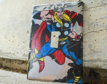 Avengers Thor Light Switch Plate Cover, Avengers Bedroom, Avengers Kid's Room, Thor Bedroom