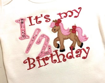 Half Birthday Applique choose any fabrics to you're liking