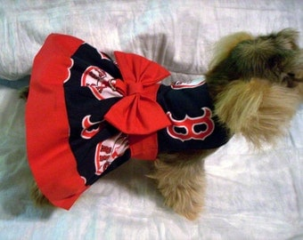 MLB Boston Red Sox Harness Dress for dogs